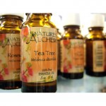 tea tree oil in bottles